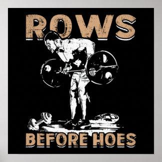 Bodybuildings-Spaß - Reihen vor Hacken - Neuheit Poster