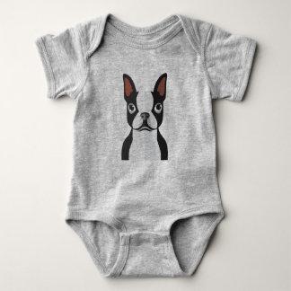 Bodysuit Baby-Bostons Terrier Jersey Baby Strampler