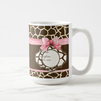 Bogen-Baby-Mädchen-Foto des Kaffeetasse