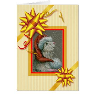 Bögen, Bänder und Streifen-Weihnachtskarte Karte