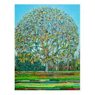 Bogen-Baum-Herbst Postkarte