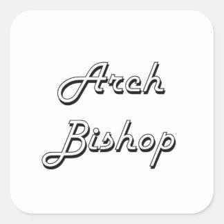 Bogen-Bischofs-klassischer Job-Entwurf Quadrat-Aufkleber