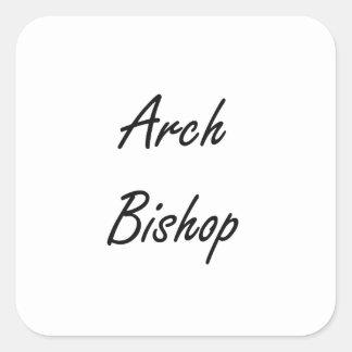 Bogen-Bischofs-künstlerischer Job-Entwurf Quadrat-Aufkleber
