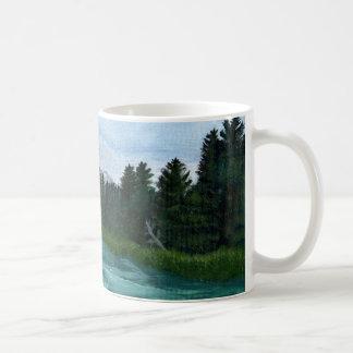 Bogen-Fluss-Acrylmalerei Kaffeetasse