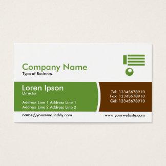 Bogen geteiltes Band - Grün und Brown Visitenkarte