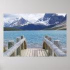 Bogen-Glacier See, AB, Kanada Poster