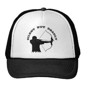Bogen-Jagd-Bogenschießen still aber tot Trucker Caps