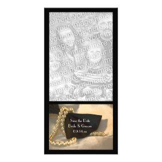 Bogen-Krawatte und Perle, die Save the Date Photo Karte