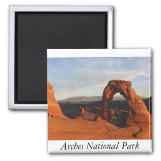 Bogen-Nationalpark-Magnet Quadratischer Magnet