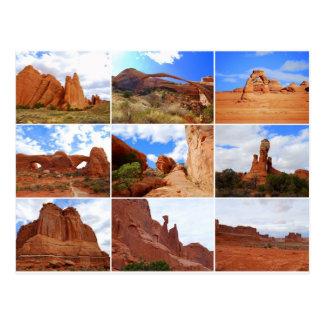 Bögen Nationalpark, Utah, Collage, Postkarte