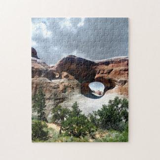 Bogen-Nationalparksüdfenster von der Rückseite Puzzle