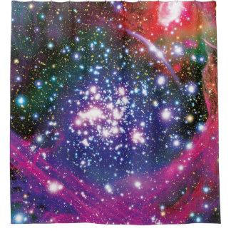 Bogen-Sternhaufen-bunter Künstler-Eindruck Duschvorhang