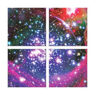 Bogen-Sternhaufen-bunter Künstler-Eindruck Leinwanddruck