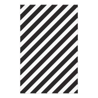 Bogen Stripes diagonales schwarzes u. weißes Muste Druckpapier