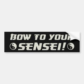 Bogen zu Ihrem Sensei! Autoaufkleber