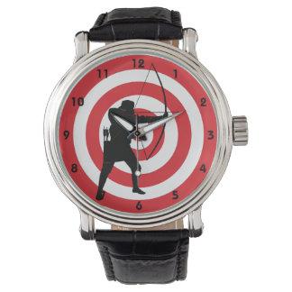 Bogenschießen-Entwurfs-Uhr Handuhr