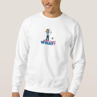 Bogenschießen-Mädchen im Blau - Licht Sweatshirt