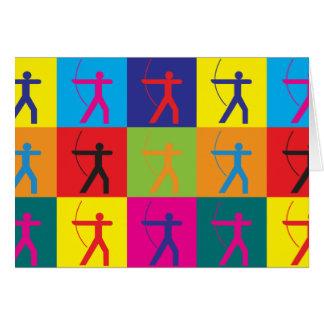 Bogenschießen-Pop-Kunst Karte