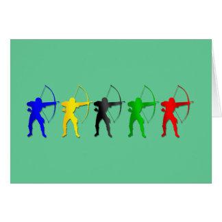 Bogenschießen-Sommer-Spiel-   Bogenschütze-Sport Grußkarte