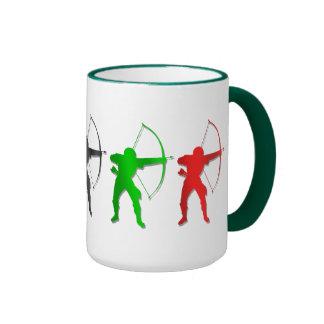 Bogenschießen-Sommer-Spiel-   Bogenschütze-Sport Ringer Tasse