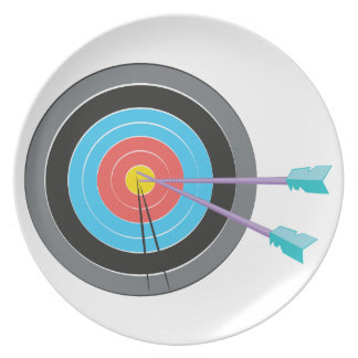 Bogenschießen-Ziel Melaminteller