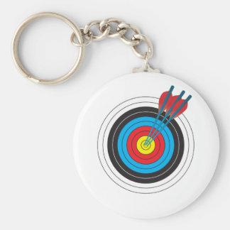 Bogenschießen-Ziel mit Pfeilen Schlüsselanhänger