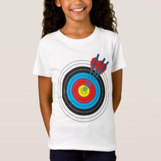 Bogenschießen-Ziel mit Pfeilen T-Shirt