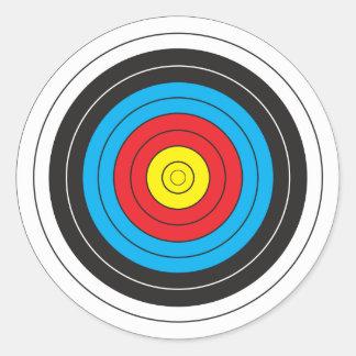 Bogenschießen-Ziel Runder Aufkleber