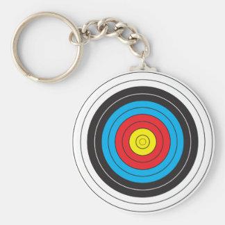 Bogenschießen-Ziel Standard Runder Schlüsselanhänger