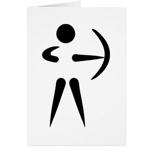 Bogenschießenbogenschütze Karten