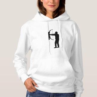 Bogenschütze-Silhouette Hoodie