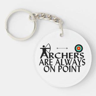 Bogenschützen sind immer im Punkt Schlüsselanhänger