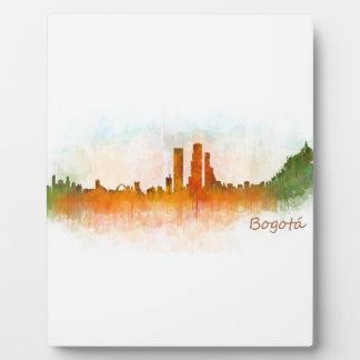 Bogotá City Kolumbien Cundinamarca Skyline v03 Fotoplatte