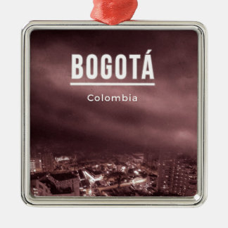 Bogota, Kolumbien Quadratisches Silberfarbenes Ornament