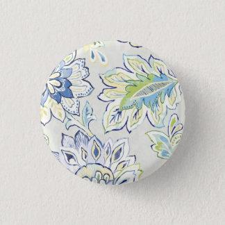 Böhmische blaue Blume Runder Button 2,5 Cm