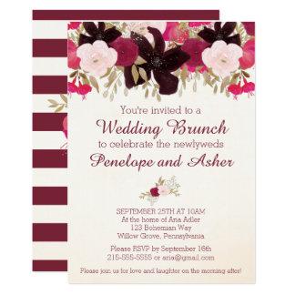 Böhmische Blumenposten-Hochzeits-Brunch-Einladung 12,7 X 17,8 Cm Einladungskarte