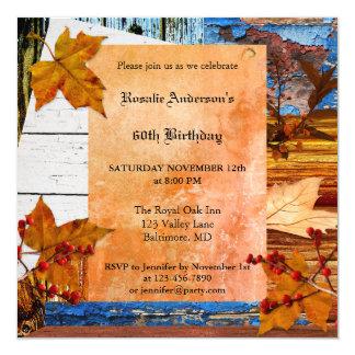 Böhmische Chic-Fall-Geburtstags-Party Einladung