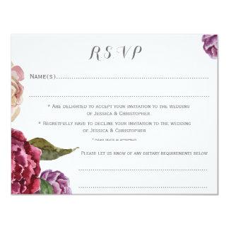 Böhmische dunkle kundengebundene Wedding UAWG 10,8 X 14 Cm Einladungskarte