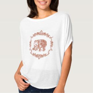Böhmische Elefantorange T-Shirt