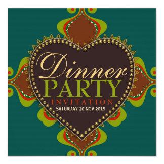 Böhmische Göttin-Abendessen-Geburtstags-Party Quadratische 13,3 Cm Einladungskarte