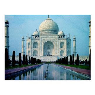 Böhmische Reise Indien Agra Vintages Taj Mahal Postkarte