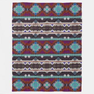 Böhmische Verzierung in ethno-ähnlichem, Azteke Fleecedecke