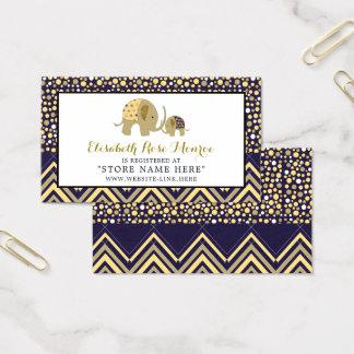 Böhmischer Elefant und Zickzack Baby-Geschenkladen Visitenkarte