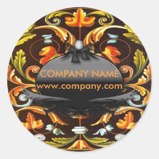 Böhmischer Mandala Herbstlaub des neuen Runder Aufkleber