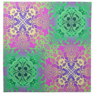böhmisches abstraktes tadelloses Fuschia lila Stoffserviette