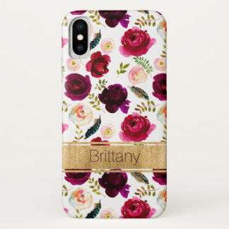 Böhmisches Blumen, Feder-Case-Mate iPhone X Fall iPhone X Hülle