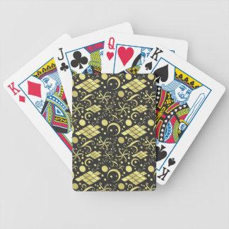 Böhmisches Golddiamant-und -Wirbels-Muster Spielkarten