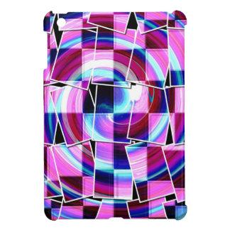 Böhmisches Retro Mod lila fuschia quadriert Muster iPad Mini Hülle