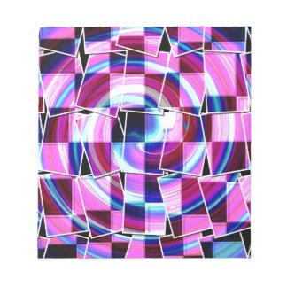 Böhmisches Retro Mod lila fuschia quadriert Muster Notizblock