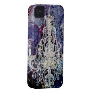 Böhmisches Shabby Chic lila Watercolor Leuchter iPhone 4 Cover